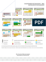 Calendario Escolarizado 2015 2016