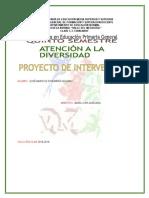 Proyecto de Intervención Diversidad