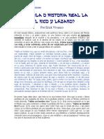 La Parabola Del Rico y Lazaro