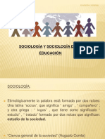 Sociología y Sociología de La Educación