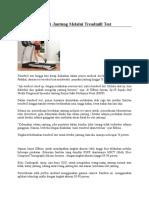 Deteksi Jantung Melalui Treadmill Test