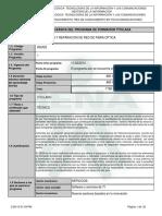 Infome Programa de Formación Titulada - Fibra Optica