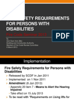 Fire Safety Requirements for Persons With Disabilities Ms Goh Sia Imm