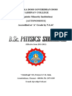 III B.sc. Physics Syllabus
