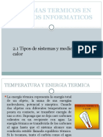 2.1 Tipos de Sistemas y Medición Del Calor