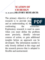 Classification of Research Design