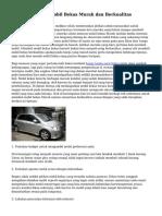 Trik Mengambil Mobil Bekas Murah dan Berkualitas