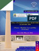 GNLU International Maritime Academy 2016 Brochure. PDF