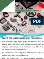 Manufacturing Science-II Unit-5 Unconven