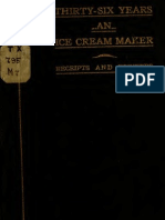 Thirty-Six Years an Ice Cream Maker Receipts and Pointers (1907)
