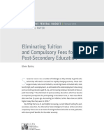 CCPA - Eliminating Tuition and Compulsory Fees for Post-Secondary Education