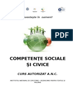 Curs Competente Sociale Si Civice