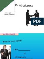 Self - Introduction