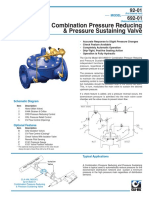 Pressure Reducing & Sustaining Valve