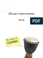African Instruments Powerpoint