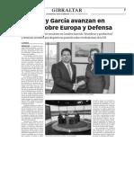 160205 La Verdad- Picardo y García Avanzan en Temas Sobre Europa y Defensa