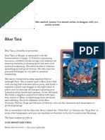 Blue Tara _ Blue Dakini