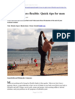 How to Get More Flexible Quick Tips for Men