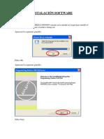 Instalación Software