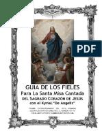 Guía de Los Fieles para la Santa Misa Cantada del Sagrado Corazón de Jesús