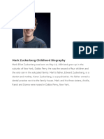 Mfsdfsafark Zuckerberg Childhood Biography