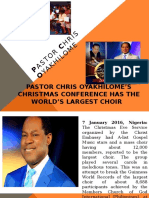Pastor Chris Oyakhilome's Christmas Conference has the World's Largest Choir