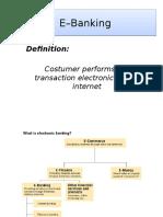 E – Banking Presentation