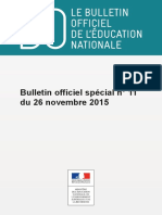 Bulletin officiel spécial de l'Education nationale