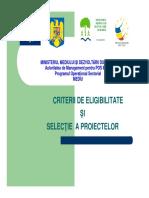 1Eligibilitate Si Selectie Proiecte
