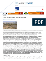 Land, Development and Democracy - The Hindu Mobile Edition