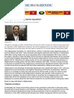 Changed Variables, Same Equation India Afghan - The Hindu Mobile Edition