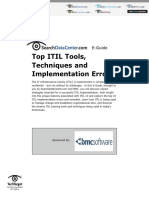 Top Itil Tools Techniques and Implementation Errors