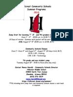 Community Schools Brochure Summer 2010