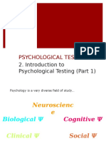 Psych Testing Lecture 2