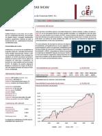 Folleto Mensual Indalia Finanzas Sicav. Ene 16