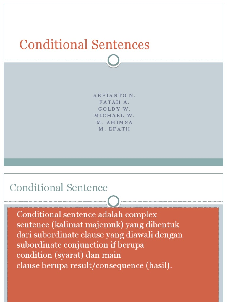 Conditional Sentences Grammar Syntax