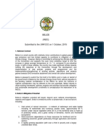 Belize INDC, submitted to UNFCCC on October 1, 2015