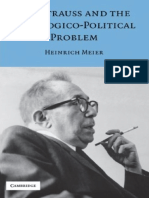 Meier-Leo Strauss and the Theologico Political Problem