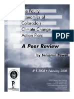 The Faulty Economics of Colorado's Climate Change Action Plan