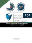 CNSA Suite and Quantum Computing FAQ