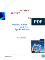 Physics Project on optical fiber