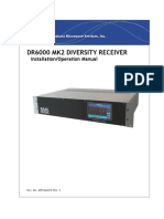 DR6000 MK2 Diversity Receiver Manual, Installation & Operation