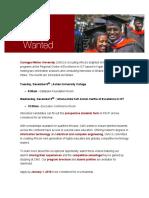 Carnegie Mellon Recruiting in Ghana