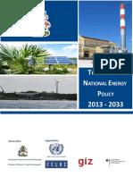 The Bahamas National Energy Policy 2013-2033