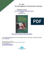 Textbook of Community MedicineTextbook of Community Medicine Preventive Social B Jain.03492 1Contents