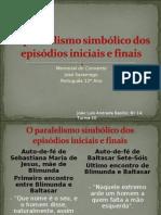 O paralelismo simbólico dos episódios iniciais e finais
