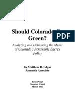 Should Colorado Go Green?