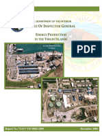 US Department of the Interior, Energy Production in the Virgin Islands, December 2009