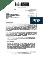 Oficio Fondo Rotatorio MinRelExt Tarifas Trámites Exterior