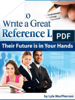 How to Write a Great Reference Letter Print Able